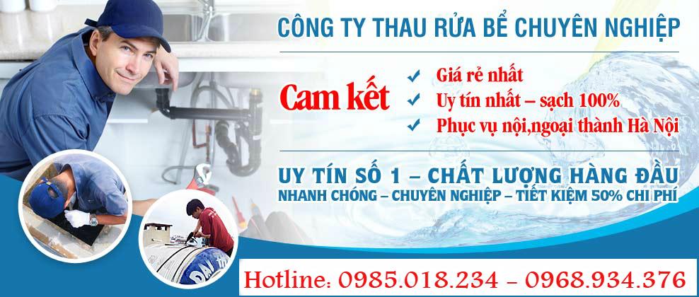Dịch vụ thau rửa bể nước ngầm Hà Nội giá 1OOK- 0985.018.234